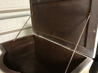 WICKER AND WOOD CHEST Broussard