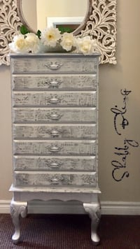 SHABBY BLING LARGE CHEST OF DRAWERS/LINGERIE CHEST Whitby, L1R