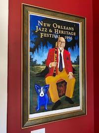 1996 New Orleans Jazz Fest Lithograph Poster