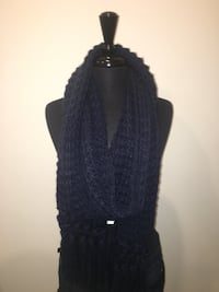 New navy scarf