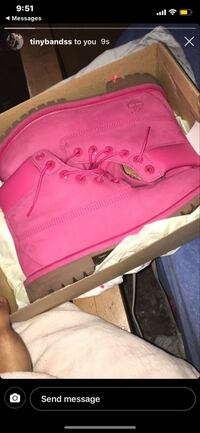 Timberland Boots , Color : Pink , Size 6.5 , Only Wore Once. Detroit, 48227