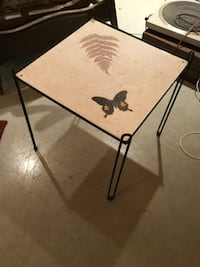 Vintage small square coffee table with butterfly Pickering, L1X 1P5