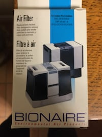 New Bionaire air filter