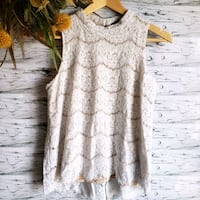 Rose & Olive | Sleeveless Lace Top. Laval, H7N 4Z7