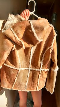 Fuzzy lined suede jacket