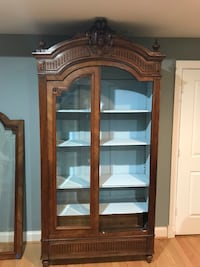 Brown wooden framed glass display cabinet Washington, 20016