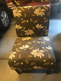 Side Chair- grey and yellow. Looks great   Highlands Ranch, 80126