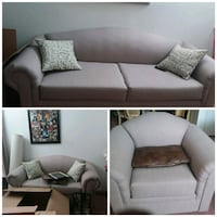 brown fabric sofa set collage Missouri City, 77489