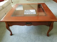 Amish coffee table with drawer