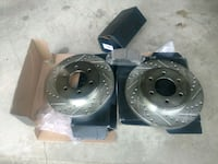 Drilled and slotted Rotors and Brake Pads . Macon, 31216