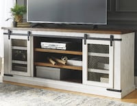 Ashley Furniture Extra Large TV Stand white  College Park