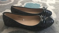 Black size 9/10 women's flats black with sequence worn once
