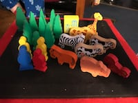 Wooden Thomas the Tank Engine trees, animals, blank shaped people... Baltimore, 21224