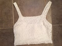 Topshop Lace & Cotton Crop Top Size 6 (XS), $10 Mississauga