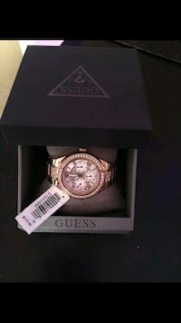 round gold-colored chronograph watch with box Calgary, T3J 4K6