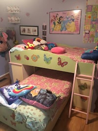 Whimsical girl twin or twin storage bed Silver Spring, 20906