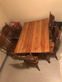 6 seat dining table and chairs  Burnaby, V5E 3E9