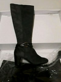 pair of black suede boots Bowie, 20716