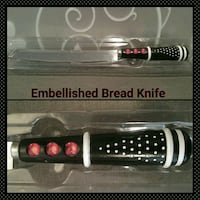 """PRETTY EMBELLISHED 8"""" SERATED BREAD KNIFE  Ontario, 91762"""