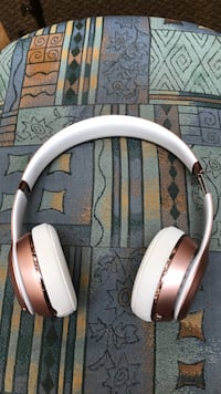 white and brown wireless headphones Brockton, 02301