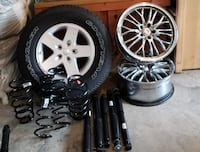 Brand New Jeep Wheels, Tires, and Shocks.  Custom Wheels