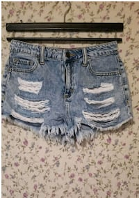 Womens Cello Distressed Shorts
