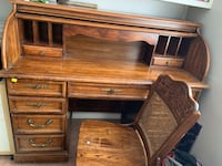 All Wood Desk with wooden chair Los Angeles, 91344
