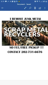 scrap metal removal Falls Church