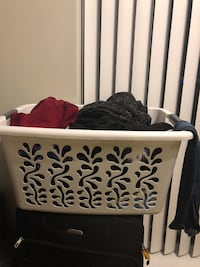 rectangular white laundry basket Vancouver, V6T