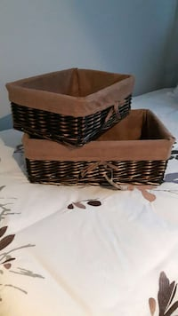 two brown wicker baskets Mercier, J6R 1C3