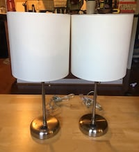 Desk or nightstand lamps with charger