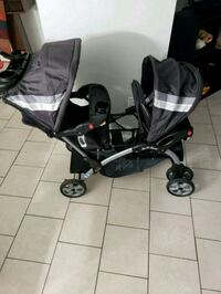 baby's black and gray tandem stroller Beltsville, 20705