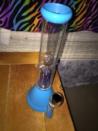 blue and clear glass water bong Galway, 12074