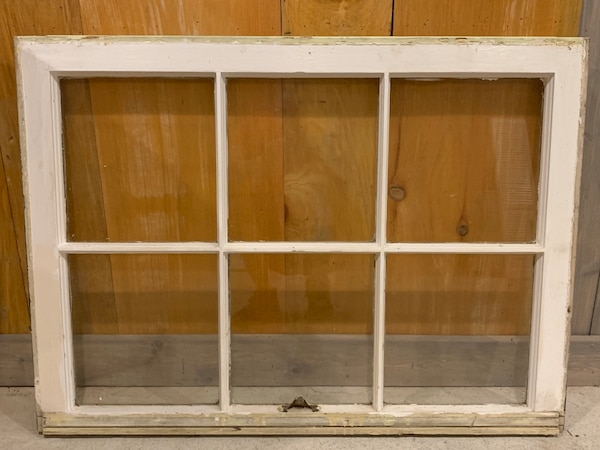 "Vintage windows. Measure 32"" wide x 23"" tall. Original vintage brass hardware. Great for hanging on wall with photos behind glass. Choose one with top or bottom sash hardware. I have several of each c22cd007-fc9b-443b-a679-a0d9c8a49759"