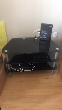 black glass top TV stand with mount Edmonton, T6W 3G3