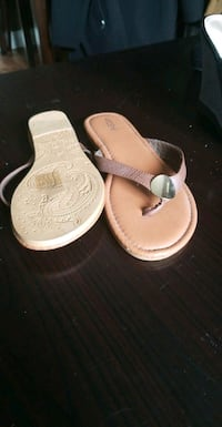 pair of brown leather sandals London, N5Z 1A8
