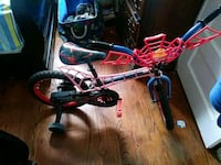 toddler's blue and red bicycle with training wheel Roselle Park, 07204