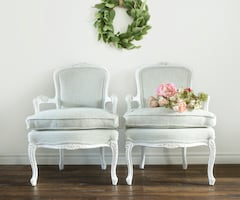 Vintage French Bergere Chairs