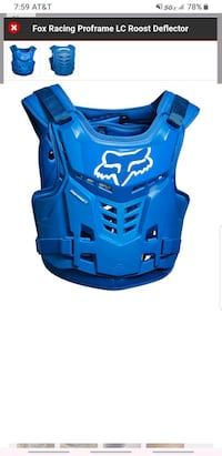 Fox Youth Low profile roost gaurd/ chest protector Las Vegas, 89113