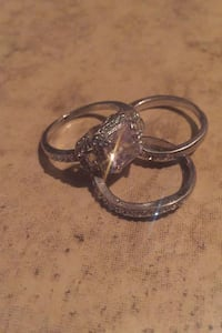 Cubic Zirconia Ring 3 Piece Set size 8 Oregon City, 97045