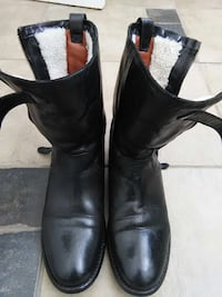 Burberry pair of black leather boots