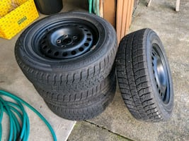 "15"" Snow Tires - Bridgestone Blizzak on steel wheels for sale"