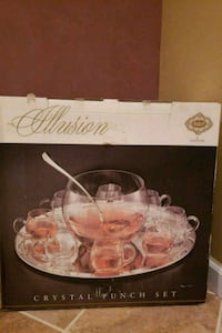 Glass crystal punch set never been used Wixom, 48393