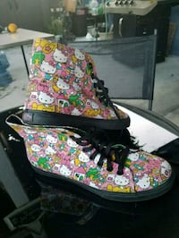 pair of multicolored floral high-top sneakers Buena Park, 90621