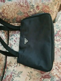 black and gray leather crossbody bag Prince George, V2L 2A6