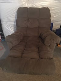 Brown fabric recliner sofa chair Parker, 80134