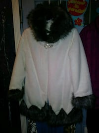 RABBIT FUR (Faux) COAT SIZE MEDIUM