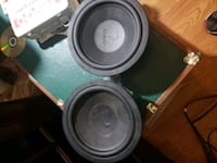 two black and gray subwoofers Seattle, 98111