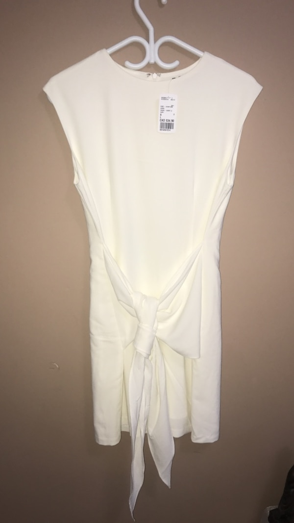 Women's white chiffon dress.