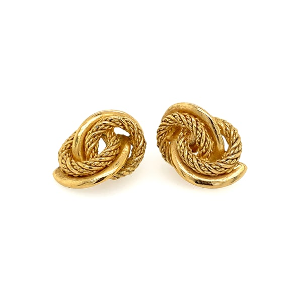 Gold Plated Knot Earrings